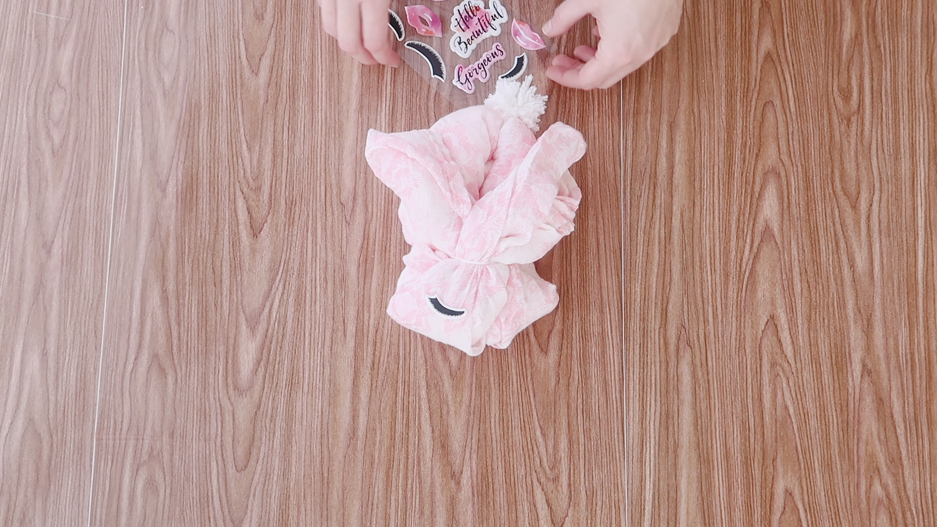 Fold A Baby Blanket Into Baby's First Easter Bunny