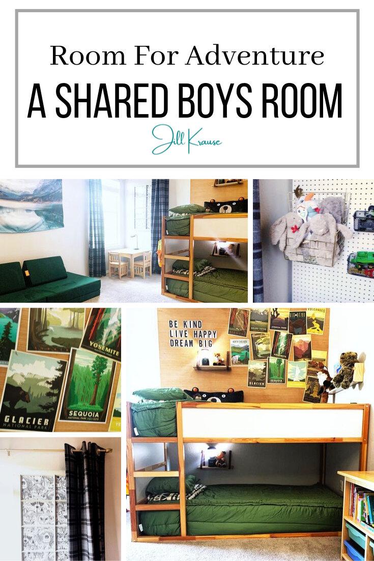 A Shared Boys Room With An Adventure & Nature Theme