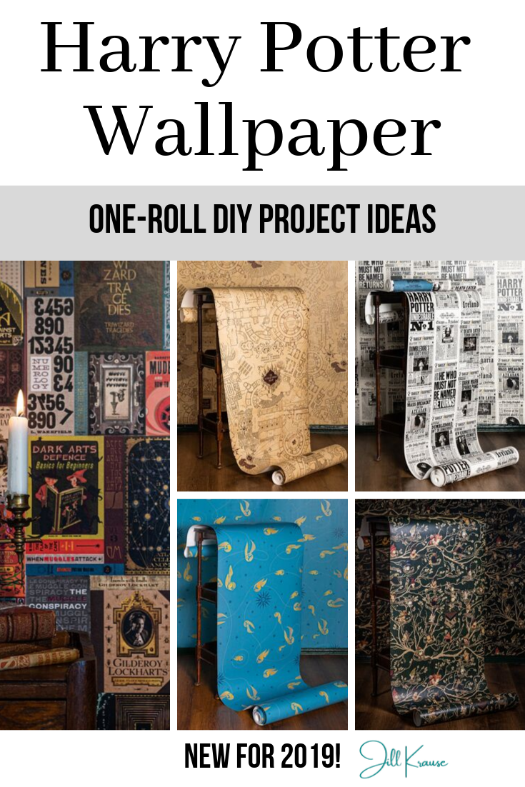 Harry Potter Wallpaper one-roll DIY project ideas | JillKrause.com