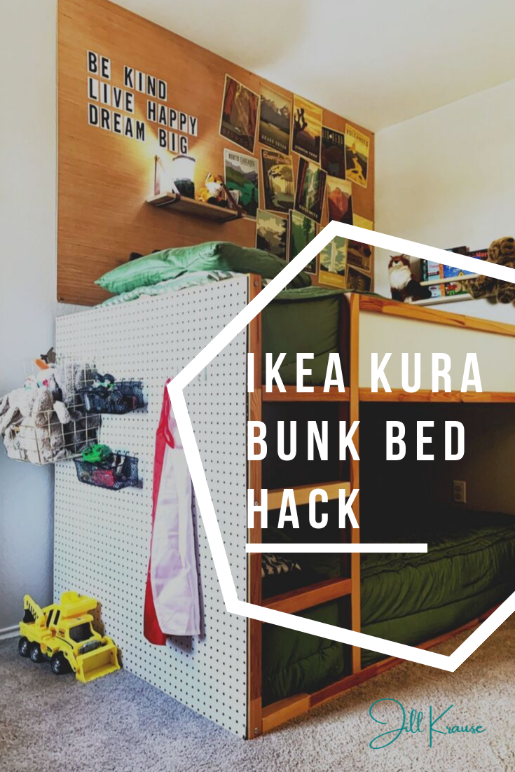 IKEA KURA bunk bed review & inexpensive hack | JillKrause.com